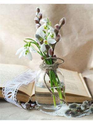 Набор для вышивки нитками Весеннее настроение Матренин Посад. Цвет: бежевый, белый, зеленый