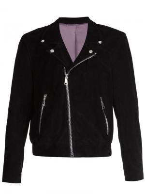 Классическая байкерская куртка Second/Layer. Цвет: чёрный