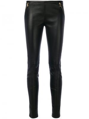 Кожаные брюки Emilio Pucci. Цвет: чёрный