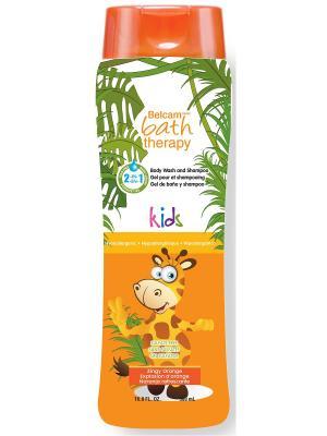 Гель для душа  шампунь детей Взрывной апельсин 2 В 1 NEW Bath Therapy. Цвет: прозрачный