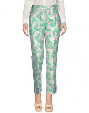 Повседневные брюки NORMALUISA. Цвет: зеленый