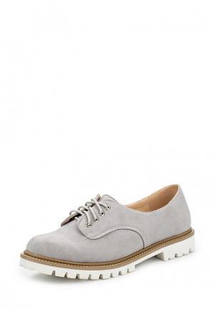 Ботинки LOST INK. Цвет: серый