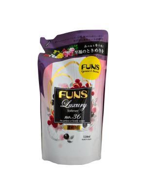 Кондиционер парфюмированный для белья FUNS ЗБ с ароматом грейпфрута и черной смородины 520 мл. Цвет: белый