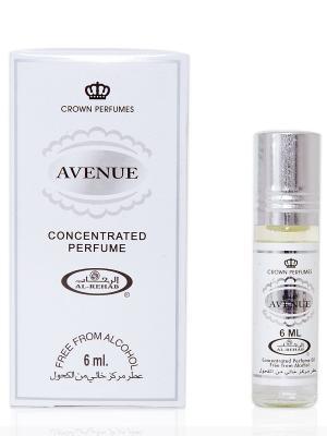 Арабские масляные духи Авеню (Avenue), 6 мл Al Rehab. Цвет: серый меланж, белый