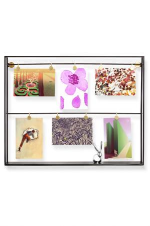 Панно-шкафчик для фотографий UMBRA. Цвет: черный