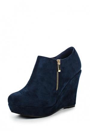 Ботильоны Style Shoes. Цвет: синий