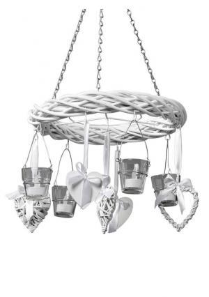 Подвесной ивовый венок Heine Home. Цвет: белый, коричневый, натуральный