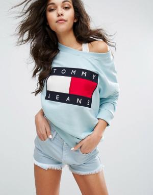 Tommy Jeans Свитшот в стиле 90-х. Цвет: синий