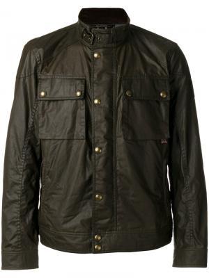 Куртка-бомбер Racemaster Belstaff. Цвет: зелёный