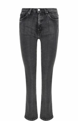 Укороченные расклешенные джинсы с потертостями Iro. Цвет: черный