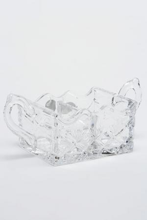 Доза без крышки 16,5 см Crystalite Bohemia. Цвет: прозрачный