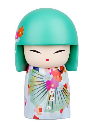 Кукла-талисман Шигеко (Веселье)  Размер mini (6х3,5 см.) Kimmidoll. Цвет: лазурный