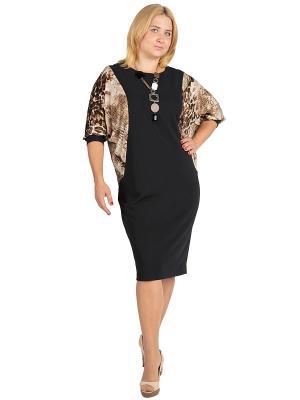 Платье Alego. Цвет: черный, коричневый