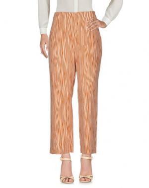 Повседневные брюки NICE THINGS by PALOMA S.. Цвет: верблюжий