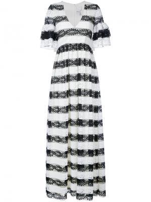 Платье Cora Huishan Zhang. Цвет: белый