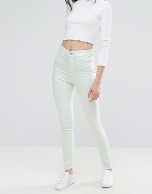 Waven Облегающие джинсы с завышенной талией Anika. Цвет: зеленый