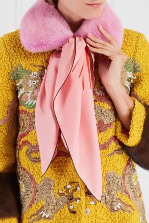 Шелковый платок Gucci. Цвет: multicolor