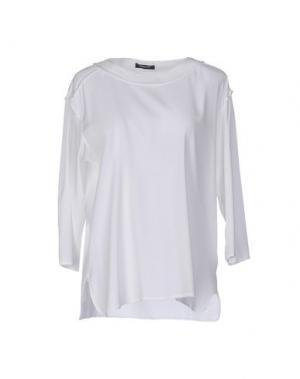 Блузка ANNECLAIRE. Цвет: белый