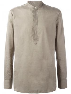 Рубашка с воротником-стойкой E. Tautz. Цвет: телесный