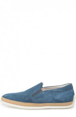 Слипоны Tod's. Цвет: серо-голубой