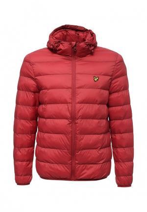 Куртка утепленная Lyle & Scott. Цвет: красный