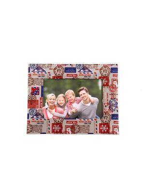 Фоторамка Путешествие для фото 18*13см, 25*19см Русские подарки. Цвет: синий, красный, белый