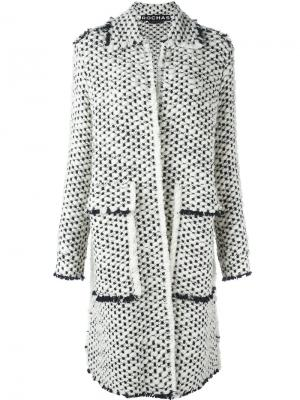 Объемное пальто Rochas. Цвет: белый