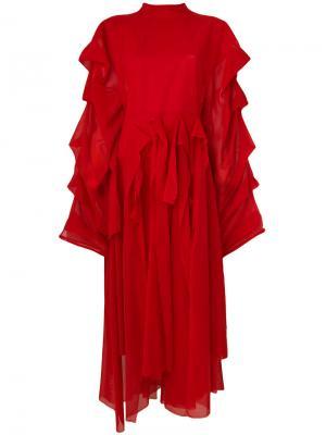 Платье Octopus Passion A.W.A.K.E.. Цвет: красный