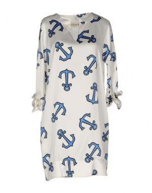 Короткое платье SHIRTAPORTER. Цвет: синий
