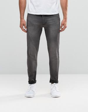 Antioch Выбеленные серые джинсы скинни с покрытием. Цвет: серый