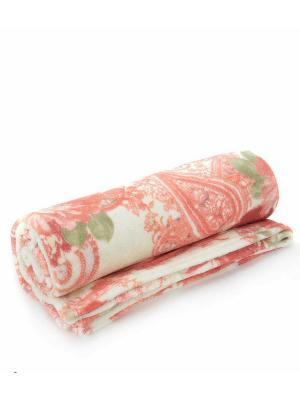 Плед AMO LA VITA. Цвет: персиковый, зеленый, серый, коричневый, голубой, молочный, розовый
