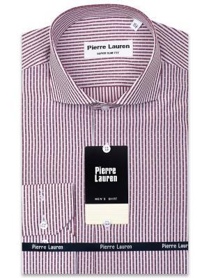 Рубашка Pierre Lauren. Цвет: бордовый