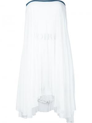 Асимметричное платье без бретелек Musée. Цвет: белый