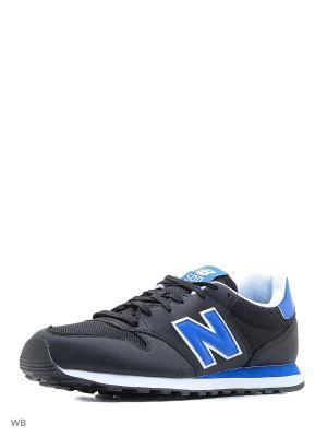 Кроссовки NEW BALANCE 500. Цвет: черный