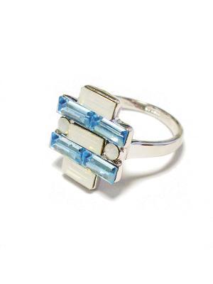 Кольцо Lucky Line. Цвет: голубой
