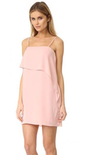 Платье Jenna Amanda Uprichard. Цвет: «пыльный» розовый
