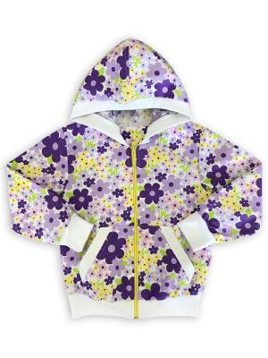 Толстовка UNIK. Цвет: темно-фиолетовый, белый, желтый