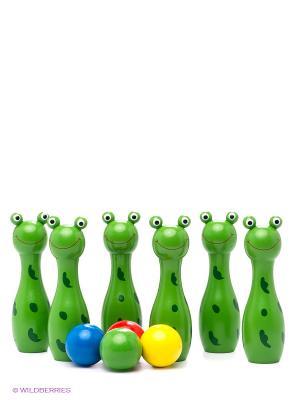 Боулинг Забавные лягушата MAPACHA. Цвет: зеленый