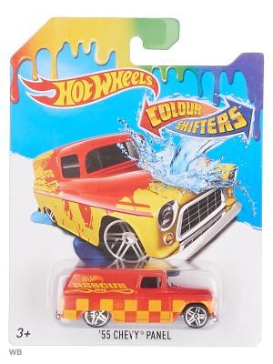 Машинка, изменяющая цвет Hot Wheels. Цвет: светло-оранжевый, красный