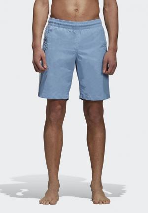 Шорты для плавания adidas Originals. Цвет: голубой