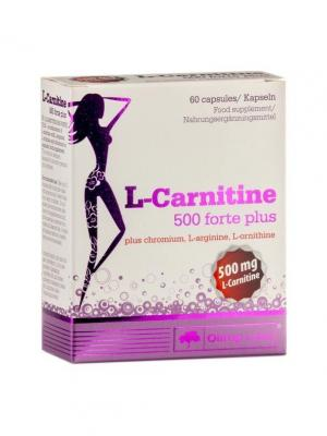 Л-карнитин L-Carnitine 500 forte  plus (60 кап) Olimp Nutrition. Цвет: белый