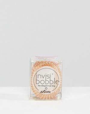 Invisibobble Набор резинок для волос бронзового цвета. Цвет: медный