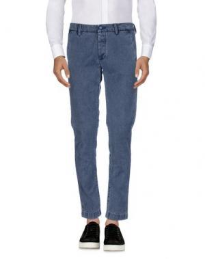 Повседневные брюки TELERIA ZED. Цвет: синий