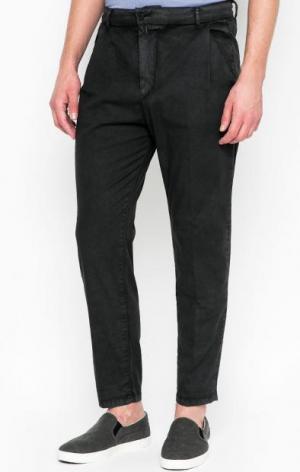Серые брюки на резинке DRYKORN. Цвет: серый