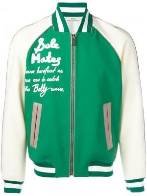 Куртка-бомбер Bally. Цвет: зелёный