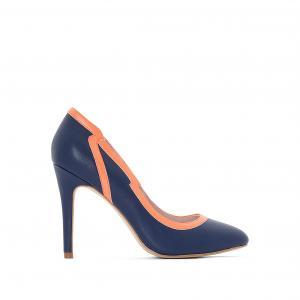 Туфли с волнистым вырезом MADEMOISELLE R. Цвет: синий морской,телесный