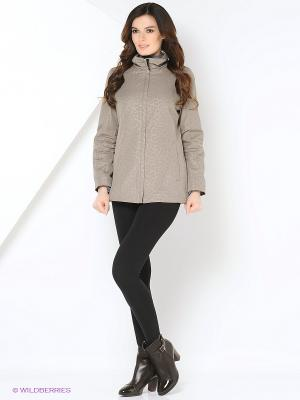 Куртка SERENA Maritta. Цвет: серо-коричневый