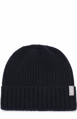 Кашемировая шапка фактурной вязки FTC. Цвет: темно-синий