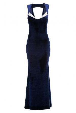 Велюровое платье 157265 Amoralle. Цвет: синий