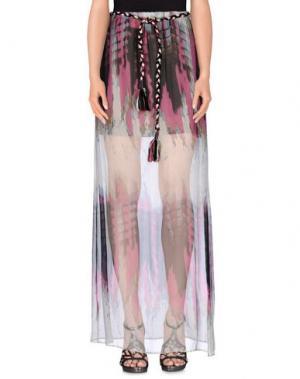 Длинная юбка JO NO FUI. Цвет: розовато-лиловый